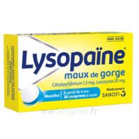 LysopaÏne Comprimés à Sucer Maux De Gorge Sans Sucre 2t/18 à NOROY-LE-BOURG