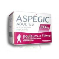 ASPEGIC ADULTES 1000 mg, poudre pour solution buvable en sachet-dose 20 à NOROY-LE-BOURG