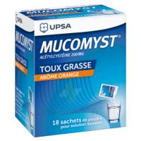 MUCOMYST 200 mg Poudre pour solution buvable en sachet B/18 à NOROY-LE-BOURG