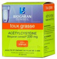ACETYLCYSTEINE BIOGARAN CONSEIL 200 mg Pdr sol buv en sachet B/20 à NOROY-LE-BOURG