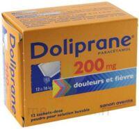 DOLIPRANE 200 mg Poudre pour solution buvable en sachet-dose B/12 à NOROY-LE-BOURG