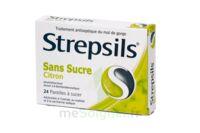 STREPSILS CITRON SANS SUCRE, pastille édulcorée à l'isomalt, au maltitol et à la saccharine sodique à NOROY-LE-BOURG