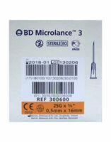 BD MICROLANCE 3, G25 5/8, 0,5 mm x 16 mm, orange  à NOROY-LE-BOURG