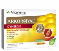 Arkoroyal Dynergie Ginseng Gelée royale Propolis Solution buvable 20 Ampoules/10ml à NOROY-LE-BOURG
