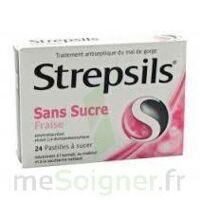 STREPSILS FRAISE SANS SUCRE, pastille édulcorée à l'isomalt, au maltitol et à la saccharine sodique à NOROY-LE-BOURG