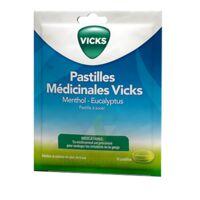PASTILLES MEDICINALES VICKS Past à sucer menthol eucalyptus Sach/18 à NOROY-LE-BOURG