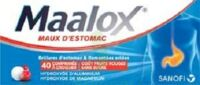 Maalox Maux D'estomac Hydroxyde D'aluminium/hydroxyde De Magnesium 400 Mg/400 Mg Sans Sucre Fruits Rouges, Comprimé à Croquer édulcoré à La Saccharine Sodique, Au Sorbitol Et Au Maltitol à NOROY-LE-BOURG