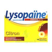 LYSOPAÏNE AMBROXOL 20 mg Pastilles maux de gorge sans sucre citron Plq/18 à NOROY-LE-BOURG
