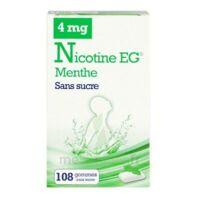 Nicotine Eg 4 Mg Gomme à Mâcher Médicamenteuse Sans Sucre Menthe édulcorée à L'acésulfame Potassique Et Saccharine Plq/108 à NOROY-LE-BOURG