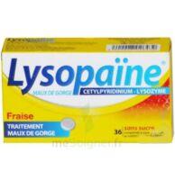 LYSOPAÏNE MAUX DE GORGE CETYLPYRIDINIUM LYSOZYME FRAISE SANS SUCRE, comprimé à sucer édulcoré au sorbitol et à la saccharine à NOROY-LE-BOURG