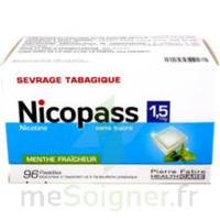 Nicopass 1,5 mg Pastille sans sucre menthe fraîcheur Plq/96 à NOROY-LE-BOURG