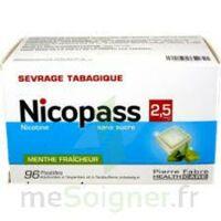 Nicopass 2,5 mg Pastille menthe fraîcheur sans sucre Plq/96 à NOROY-LE-BOURG