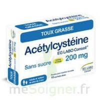 ACETYLCYSTEINE EG LABO CONSEIL 200 mg SANS SUCRE, poudre pour solution buvable en sachet-dose à NOROY-LE-BOURG