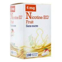 Nicotine Eg 4 Mg Gomme à Mâcher Médicamenteuse Sans Sucre Fruit édulcorée à L'acésulfame Potassique Et Saccharine Plq/108 à NOROY-LE-BOURG
