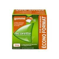 Nicorette 2 mg Gomme à mâcher médicamenteuse sans sucre fruits Plq/210 à NOROY-LE-BOURG