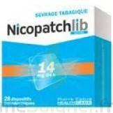 NICOPATCHLIB 14 mg/24 h Dispositifs transdermiques B/28 à NOROY-LE-BOURG